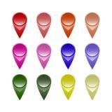 Ensemble de flèches indicatrices de carte Image stock