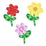 Ensemble de fleurs de gemmes Image libre de droits
