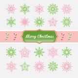 Ensemble de flocon de neige de Noël Illustration de vecteur Photo stock