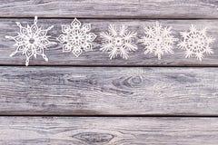 Ensemble de flocons de neige à jour de Noël Image libre de droits