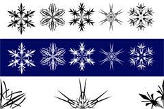 Ensemble de flocons de neige Photos libres de droits