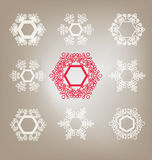 Ensemble de flocons de neige Images libres de droits
