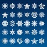 Ensemble de flocons de neige de papier de vecteur Photos stock