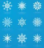 Ensemble de flocons de neige de vecteur Photo libre de droits