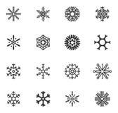 Ensemble de flocons de neige de vecteur Images stock