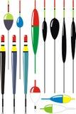Ensemble de flotteurs de pêche Image stock