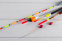 Ensemble de flotteurs de pêche Photos stock