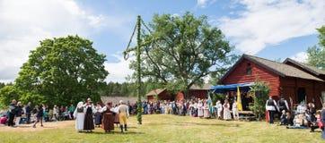 Ensemble de folklore de la Suède Images libres de droits