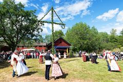 Ensemble de folklore de la Suède Image stock