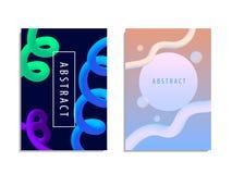 Ensemble de fond à la mode moderne d'abstraction de style plastique Photos stock
