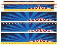 Ensemble de fond de bannière de tente de carnaval de cirque illustration libre de droits