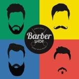 Ensemble de fond de Barber Shop ou de coiffeur Photo libre de droits