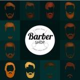 Ensemble de fond de Barber Shop ou de coiffeur Images stock