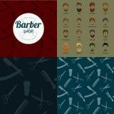 Ensemble de fond de Barber Shop ou de coiffeur Photos libres de droits