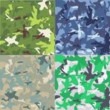 Ensemble de fond de militaires de camouflage Photos libres de droits