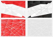 Ensemble de fond de polygone Photographie stock