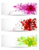 Ensemble de fond de trois couleurs Photographie stock