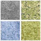 Ensemble de fond militaire de texture de la couleur quatre différente Image stock