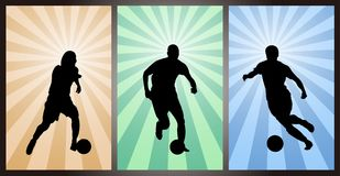 Ensemble de footballeurs, silhouette Photo stock