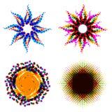 Ensemble de formes abstraites de vecteur Éléments pour le logo, label, emblème, illustration de vecteur