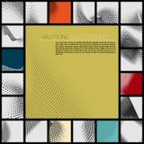Ensemble de formes abstraites pointillées Image stock