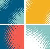 Ensemble de formes abstraites pointillées Images libres de droits