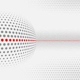 Ensemble de formes abstraites pointillées Image libre de droits