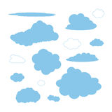 Ensemble de formes de nuage illustration stock