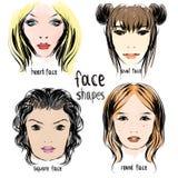 Ensemble de formes de visage Image libre de droits