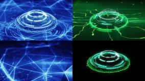 Ensemble de formes futuristes de cercle de la science fiction Images libres de droits