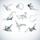 Ensemble de formes géométriques de vecteur abstrait Photographie stock