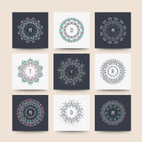 Ensemble de formes géométriques minimales Images libres de droits