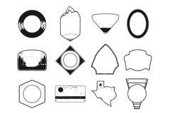Ensemble de formes noires d'insigne de camping Icône incluse d'état du Texas Conception de schéma Objets courants de vecteur d'is illustration de vecteur