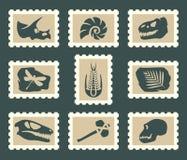 Ensemble de Fossiles illustration de vecteur