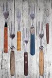 Ensemble de fourchettes de dîner photos stock