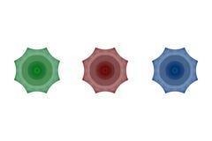 Ensemble de fractales d'octogone d'arbre Image stock