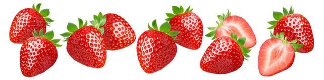 Ensemble de fraise d'isolement sur le fond blanc photo libre de droits