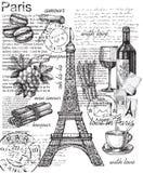 Ensemble de Frances illustration stock