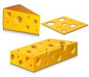 Ensemble de fromage illustration de vecteur