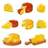 Ensemble de fromage. Vecteur Photo libre de droits