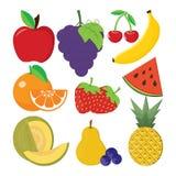 Ensemble de fruits illustration de vecteur