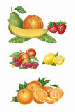 Ensemble de fruits illustration stock