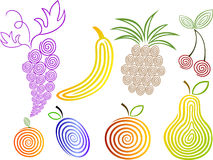 Ensemble de fruits Illustration Stock