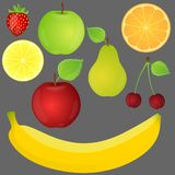Ensemble de fruits. Illustration de vecteur. illustration libre de droits
