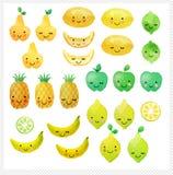 Ensemble de fruits tirés par la main d'aquarelle illustration de vecteur