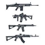Ensemble de fusil d'arme Image stock