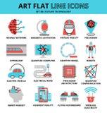 Ensemble de futures icônes de technologie illustration de vecteur