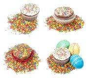 Ensemble de gâteaux de Pâques Photographie stock