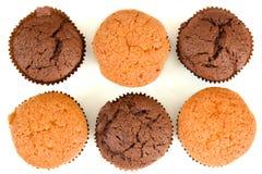 Ensemble de gâteaux doux. Première vue images libres de droits