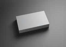 Ensemble de gauche horizontale de namecards Photo stock